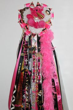 Triple mum with school colors and PINK!!  I LOVE IT!!!