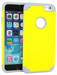 """myLife 2 Layer Neo Hybrid Bumper Case for iPhone 6 Plus (5.5"""" Inch) by Apple {Yellow + Gray """"Two-Tone Slim Design"""" Two Piece SECURE-Fit Rubberized Gel} myLife Brand Products http://www.amazon.com/dp/B00OYGYL1K/ref=cm_sw_r_pi_dp_LE8vub0W7V8MC"""