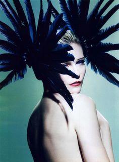 Kirsten Dunst by Mario Testino for V Magazine#64 (Spring 2010)  Editorial: The Art Of Beeing Kirsten Dunst  Headpiece: Gareth Pugh