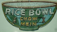 Neon rice bowl - This is in Lompoc, CA - here's a photo of the restaurant http://farm4.static.flickr.com/3128/2852917340_b41288b125.jpg