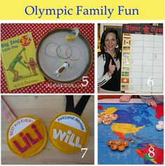 Olympic theme ideas- this would be a fun combined activity. Too late to do it this year, but maybe in a couple more :) Fun Games, Activities For Kids, Crafts For Kids, Birthday Activities, Preschool Scavenger Hunt, Preschool Art, It's Your Birthday, Birthday Party Themes, Birthday Ideas