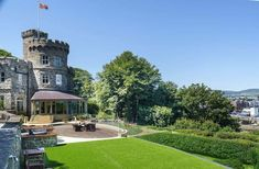 1830 Castle For Sale In Isle Of Man United Kingdom London Airports, Tower Design, Irish Sea, Mansions For Sale, Castle House, Architectural Features, Isle Of Man, Man United, Detached House