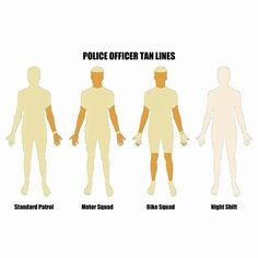 Police Officer/Law Enforcement tan lines Cop Wife, Police Wife Life, Police Family, Cops Humor, Police Humor, Police Officer, Cop Jokes, Firefighter Humor, Drunk Humor