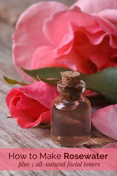 5 Homemade Facial Toners + How to Make Rosewater Our all-natural facial toners are incredibly refreshing and tone the skin beautifully. The homemade rosewater adds a gorgeous scent. Homemade Toner, Homemade Facials, Homemade Skin Care, Homemade Products, Homemade Beauty, Natural Facial, Natural Skin Care, Natural Makeup, Natural Health