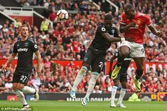 Romelu Lukaku has 12 Premier League goals for Manchester United this season, but that statistic alone does not tell the full story of the striker's debut campaign at Old Trafford. Premier League Goals, Manchester United Football, World 1, Old Trafford, The Unit, West Ham, Seasons, Baseball Cards, Sports