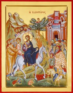 On this day, the Sunday of Palms, we celebrate the radiant and glorious Feast of the Entry of our Lord Jesus Christ into Jerusalem. Jerusalem, Gospel Reading, John Chrysostom, Easter Activities For Kids, Palm Sunday, Holy Cross, The Donkey, The Orator, Holy Week