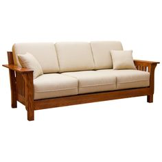 This Mission Sofa features sturdy Solid Oak construction in the Arts & Crafts style reminiscent of George and Gustave Stickley, architects Green and Green, and Frank Lloyd Wright. Note the Solid Oak square spindle detail and wide oak arms and wood back. In addition, it also features an incorporated webbing system that is both strong and flexible for great comfort and durability. With all these features this Sofa would be a great addition to your Living room and it is built to last you for…