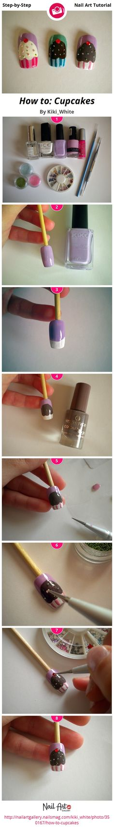 How to: Cupcakes by Kiki_White from Nail Art Gallery