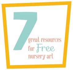 Resources for FREE Nursery Art #baby