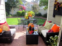 Outdoor Living Warmed with the Colors of Fall