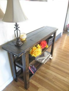 Modified Simple Cheap Console Table | Do It Yourself Home Projects from Ana White