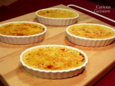 Mango custard is topped with a crisp caramelized sugar crust in these Mango Creme Brulee.