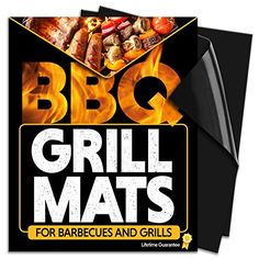 Chef Remi BBQ Grill Mat  Set Of 2 Heavy Duty NonStick Grilling Mats  16 x 13 Inch  Use on Gas Charcoal Electric Barbeque Oven or Smoker