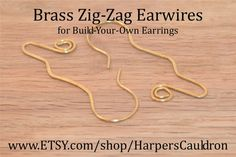 Build-Your-Own Earrings with these base earwires, made of non-tarnish Brass, and gemstone dangles (available separately.) You can easily add and switch gemstone dangles, mixing and matching the stones.