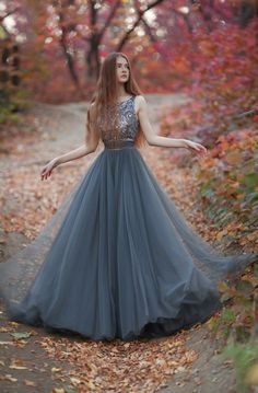 Sexy Prom Dresses New Arrival Tulle Prom Dress,Beading Prom Gown Dress,Backless Gray Formal Party Gowns Evening Dress Long, Formal Evening Dresses, Elegant Dresses, Pretty Dresses, Evening Gowns, Beautiful Dresses, Dress Formal, Evening Party, Formal Prom