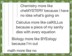 Math is more like no.