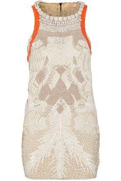 Wedding Ideas: cream-orange-dress