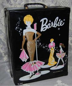 1960's barbie carry case