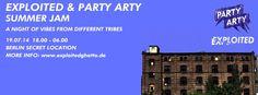 Party Arty & Exlploited Records Summer Jam 2014 #partyartyberlin #berlin #exploitedrecords Rapper, Summer Jam, Secret Location, Partys, Summer Parties, Berlin, Night, Author, Concert