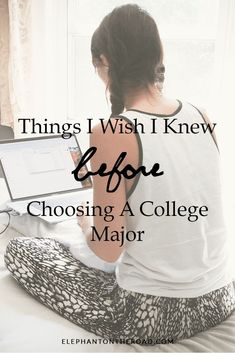 Things I Wish I Knew Before Choosing A College Major. College Tips. How To Choose A College Major. College Elephant on the Road. College Majors, Scholarships For College, College Life Hacks, College Tips, Law School, High School, School Tips, Choosing A Major, College Problems