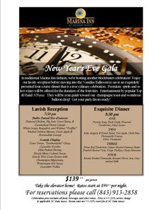 Spend your Myrtle Beach New Years Eve at Myrtle Beach's luxury resort - the Marina Inn at Grande Dunes!