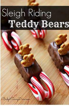 Sleigh riding teddy bear treats