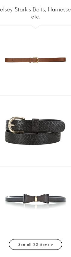"""""""Kelsey Stark's Belts, Harnesses, etc."""" by kelseystan97 ❤ liked on Polyvore featuring accessories, belts, cintos, cognac brown, cognac belt, cognac brown belt, h&m belts, real leather belts, genuine leather belt and leather belts"""