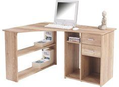 Sarok íróasztal, Canyon tölgy dekor kivitelben, 2 fiókkal és 5 nyitott tárolóval, nagy tárolási felülettel, Szé/Ma/Mé:kb.135/74,2/95cm