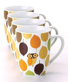Little Hoot Mug - Set of Four