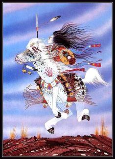 "The Month of Nvdakola(February) ""Bone Moon"" Native American Horses, Native American Paintings, Native American Quotes, Native American Artists, Native American History, Indian Paintings, Cowboy Art, Cowboy Pics, Horse Drawings"