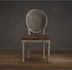 Vintage French Round Cane Back Fabric Side Chair | Dining Room | Pinterest  | Side Chair