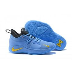 hot sale online f7ea1 767cd Spring Summer 2018 Really Cheap Basketball Sneakers Nike PG 2 ID Home Craze  Thunder blue-yellow