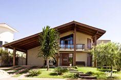 casa telhado aparente de madeira - Pesquisa Google