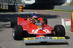 Jaques Villeneuve driving his father's 1979 Ferrari 312T4 in a tribute to remember that it's 30 years side the great Gilles Villeneuve passed away today