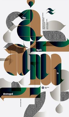 typography poster design - the ogaki is destroyed Typography Poster Design, Typographic Poster, Design Poster, Typography Inspiration, Graphic Design Inspiration, Illustration Design Graphique, Art Graphique, Typographie Fonts, Art Actuel