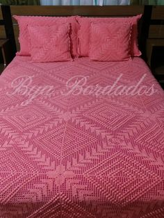 ミヽ◕‿◕ノ彡 Colchas de Cama em Crochê Goiaba Quadrada - / ミヽ◕‿◕ノ彡 Bedspreads of Bed Crocheted Guava Square - Crochet Bedspread Pattern, Crochet Motifs, Basic Crochet Stitches, Afghan Crochet Patterns, Crochet Squares, Thread Crochet, Filet Crochet, Crochet Doilies, Diy Crafts Crochet