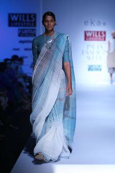 Ice Blue Handwoven Cotton Saree