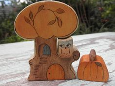 Hey, I found this really awesome Etsy listing at http://www.etsy.com/listing/161922093/wooden-toy-set-autumn-tree-with-owl