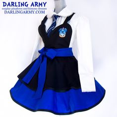 Updated Ravenclaw Hogwarts Houses Cosplay Pinafore by DarlingArmy Cosplay Dress, Cosplay Outfits, Anime Outfits, Cosplay Costumes, Cool Outfits, Fashion Outfits, Kimono Dress, Dress Up, Galaxy Outfit