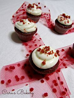 Red velvet cupcakes #valentinesday