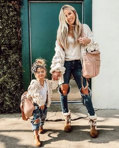 Mom outfits, girls weekend outfits, cute outfits for kids, mother daughte. Mother Daughter Matching Outfits, Mother Daughter Fashion, Mommy And Me Outfits, Little Girl Outfits, Family Outfits, Cute Outfits For Kids, Little Girl Fashion, Toddler Fashion, Kids Fashion