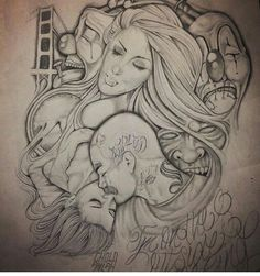 Og Prison Drawings, Chicano Drawings, Chicano Art, Art Drawings, Tattoo Drawings, Pencil Drawings, Estilo Cholo, Mexican Art Tattoos, Cholo Art