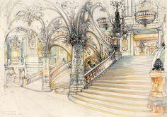 Elizabeth Ockwell Paris Opera Staircase 1999