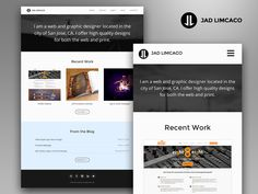 Personal Website Redesign by Jad Limcaco (Silicon Valley)
