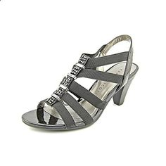 Karen Scott Nylaa Women US 6 Black Sandals. The style name / style number is Nylaa / NYLAA-BLK. Width: B(M). Grey Sandals, Women's Shoes Sandals, Dress Shoes, Women's Sandals, Women's Heels, Karen Scott, Black Fabric, Partner, Womens Flats