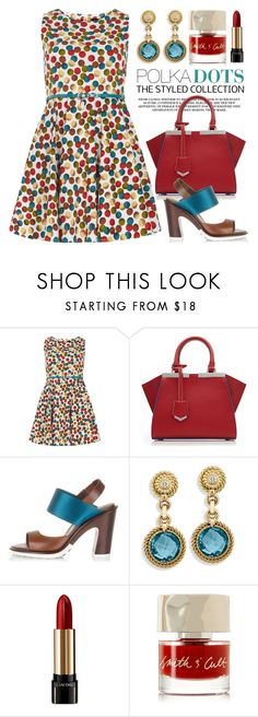 """""""Dots 1904"""" by boxthoughts ❤ liked on Polyvore featuring Izabel London, Fendi, Tod's, Lancôme and Smith & Cult"""