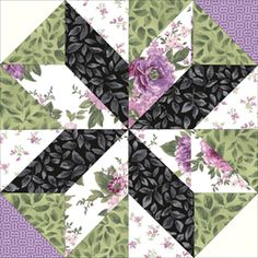 Beautiful Blossoms Passion Quilt Block