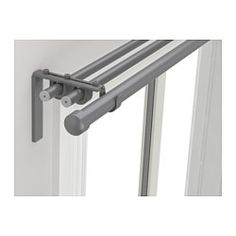 IKEA - RÄCKA / HUGAD, Triple curtain rod combination, You can combine three layers of curtains, both thick and thin, using the triple rod.The length is adjustable.