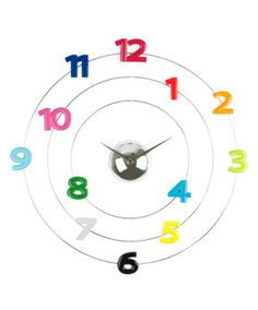 Modern Colorful Numbers Wall Clock