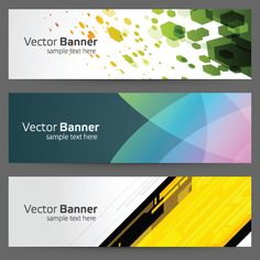 Modern colored banner 03 vector